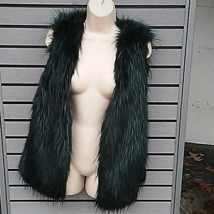 Fur Emerald green & black vet, size M